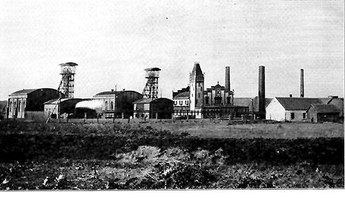 Historisches Foto der Zeche Friederika